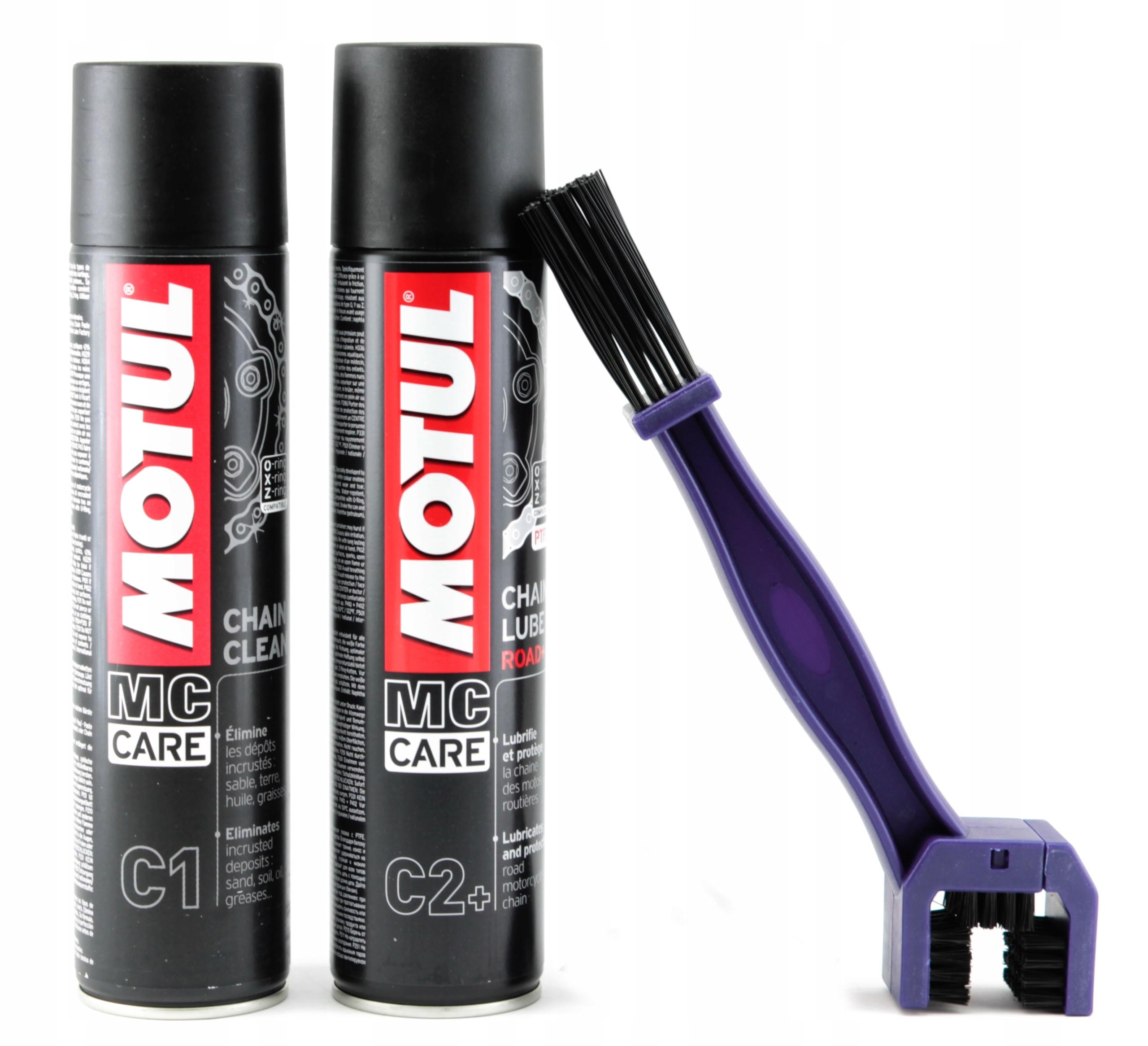 Комплект цепи MOTUL C2+ смазка с тефлоном C1 clean