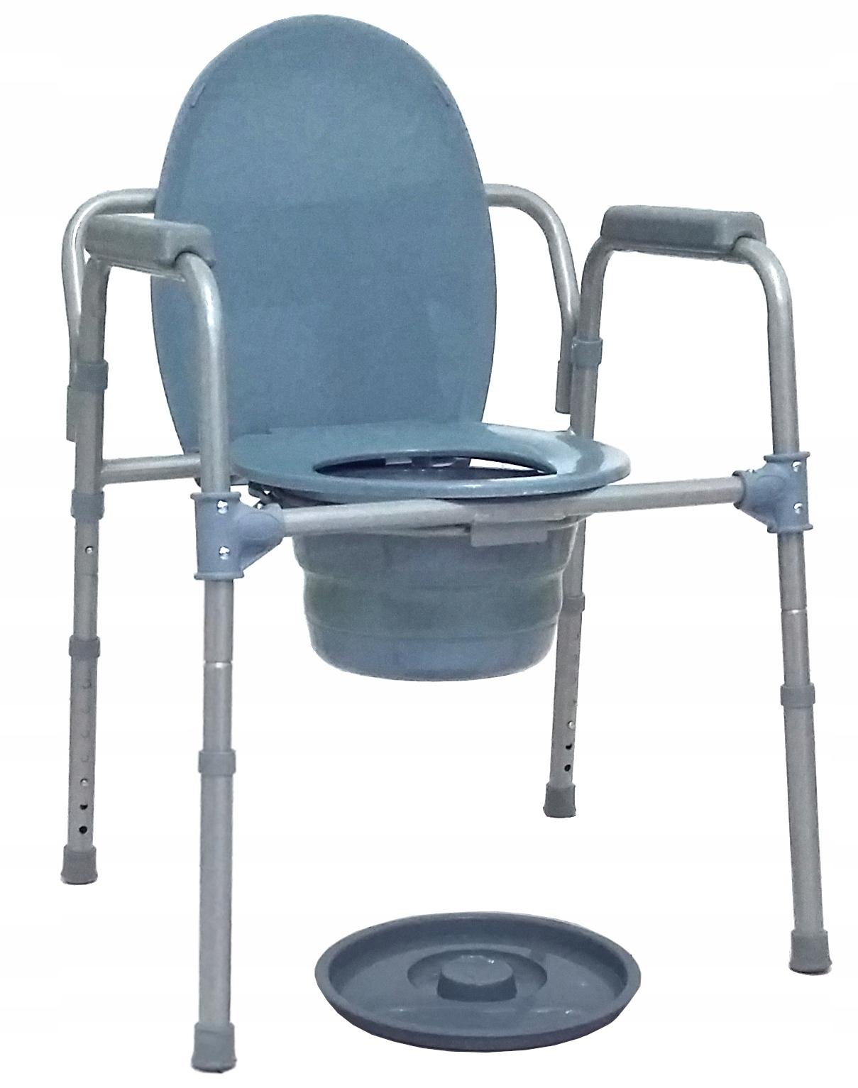 Przenośna toaleta krzesło toaletowe sanitarne 3w1