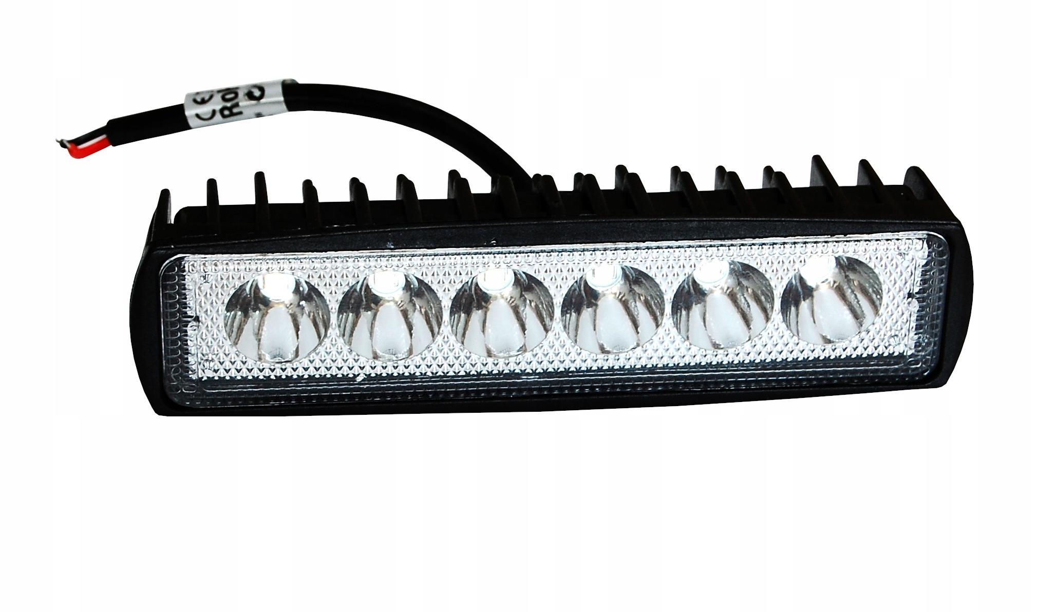 LAMPA ROBOCZA 6 LED halogen 18W 12-24V SZPERACZ