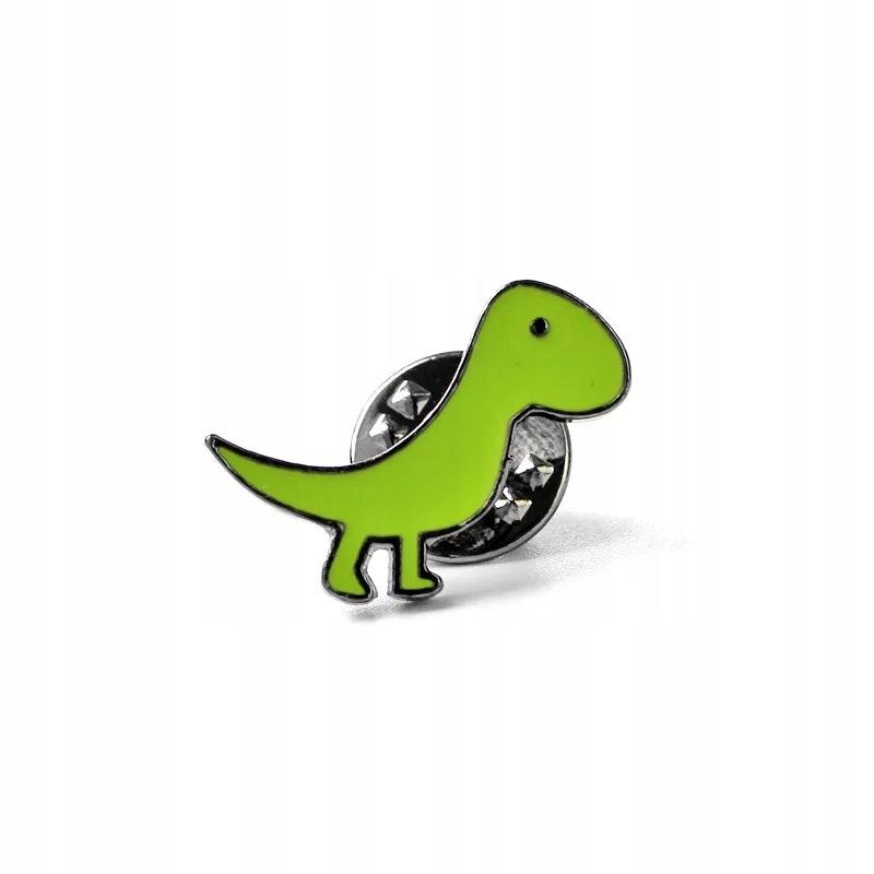Pins zielony Dinozaur przypinka emaliowana