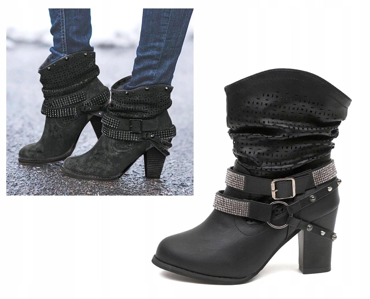 Topánky BT88 Retro KOVBOJSKÉ topánky VINTAGE čierna 40