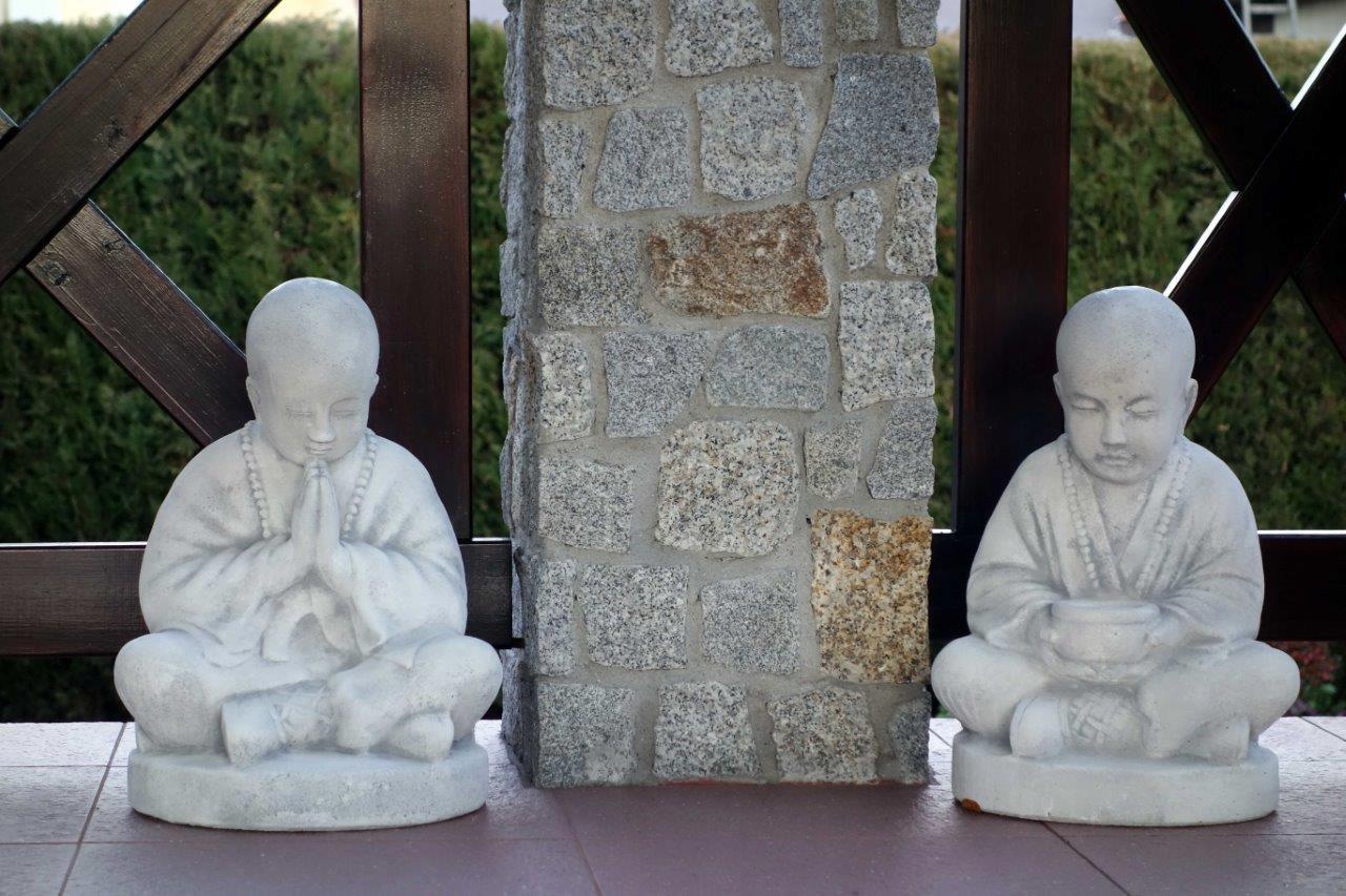 KRÁSNE DEKORATÍVNE sochy BUDHU S101131+S101132