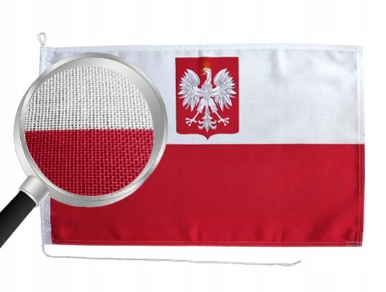 Flaga jachtowa Bandera LEN ПОЛЬША с Godłem Lniana