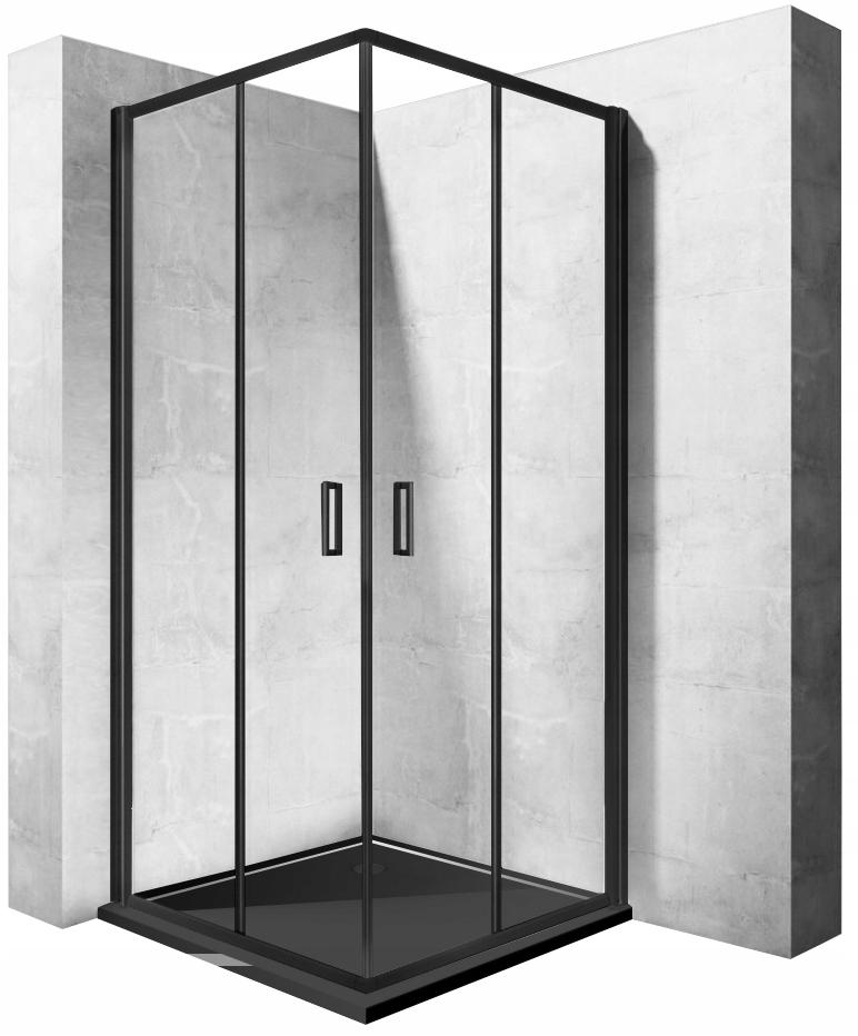 Sprchový kút PUNTO CZARNA 80x80 výsuvný