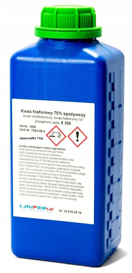 Фосфорная кислота 75% пищевая ortofosforowy E338