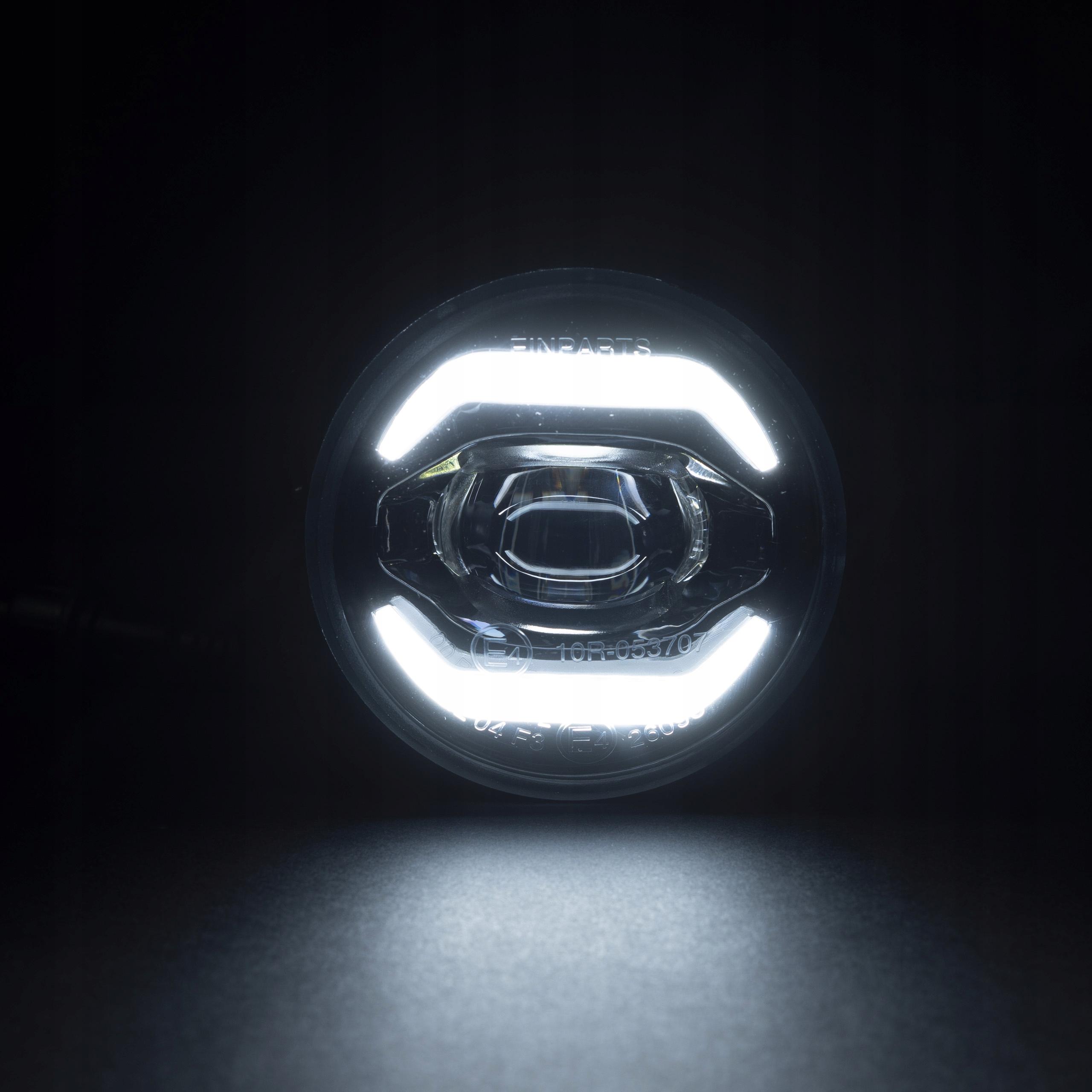 2w1 Światła dzienne okrągłe LED halogeny DUOLIGHT 2