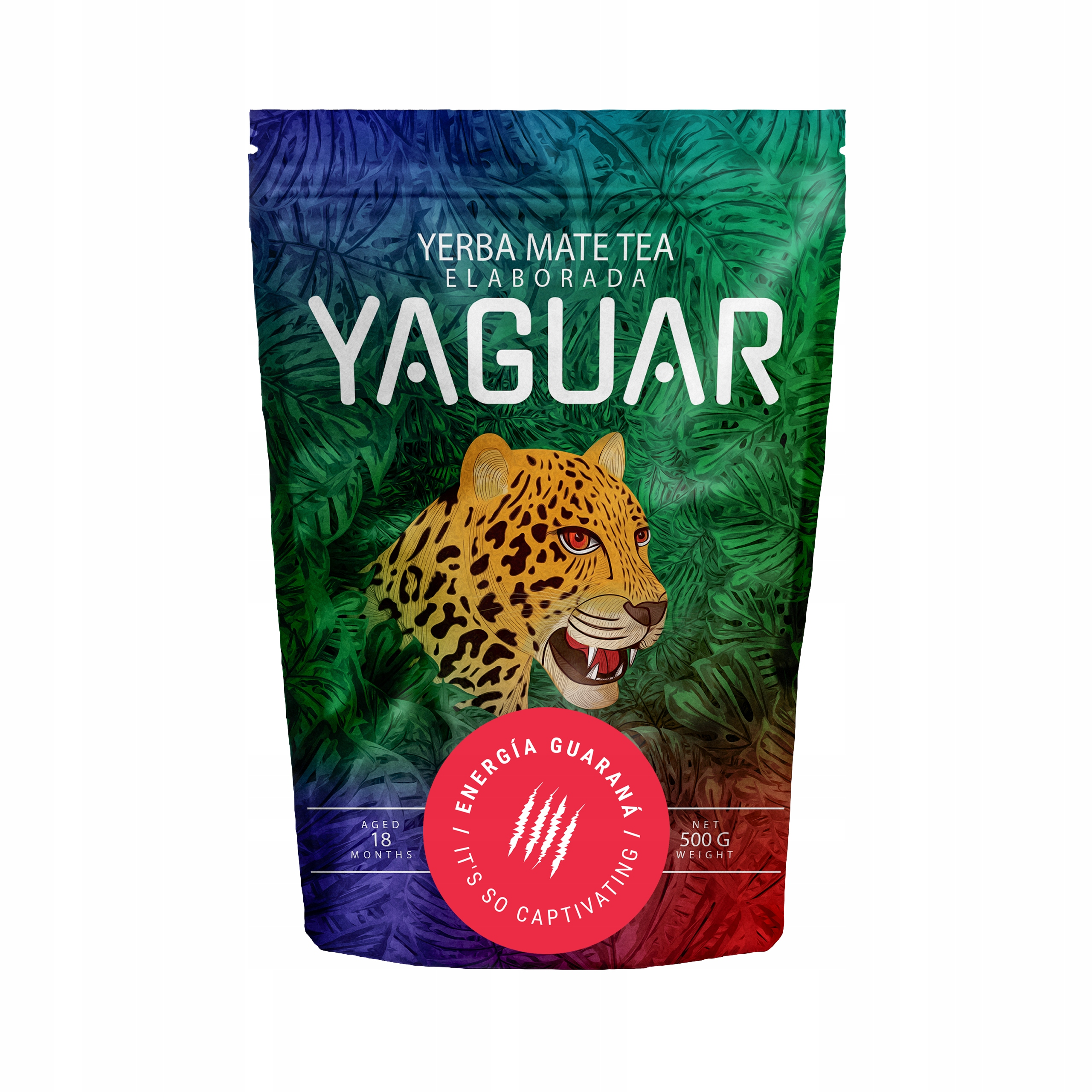 Yerba Mate Yaguar Энергия Гуарана Ноль ,5 кг 500 г крепкая