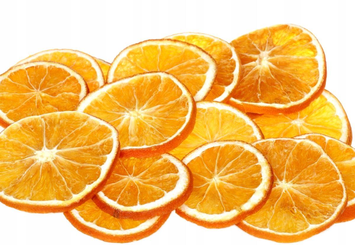 Pachnące pomarańcze cięte jako bombki 16 susz