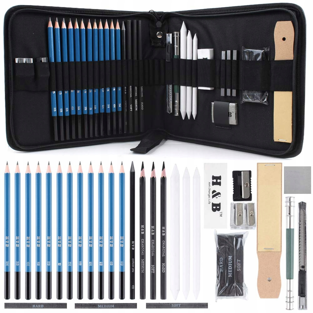 Item SET FOR SKETCHING DRAWING PROFESSIONAL 32