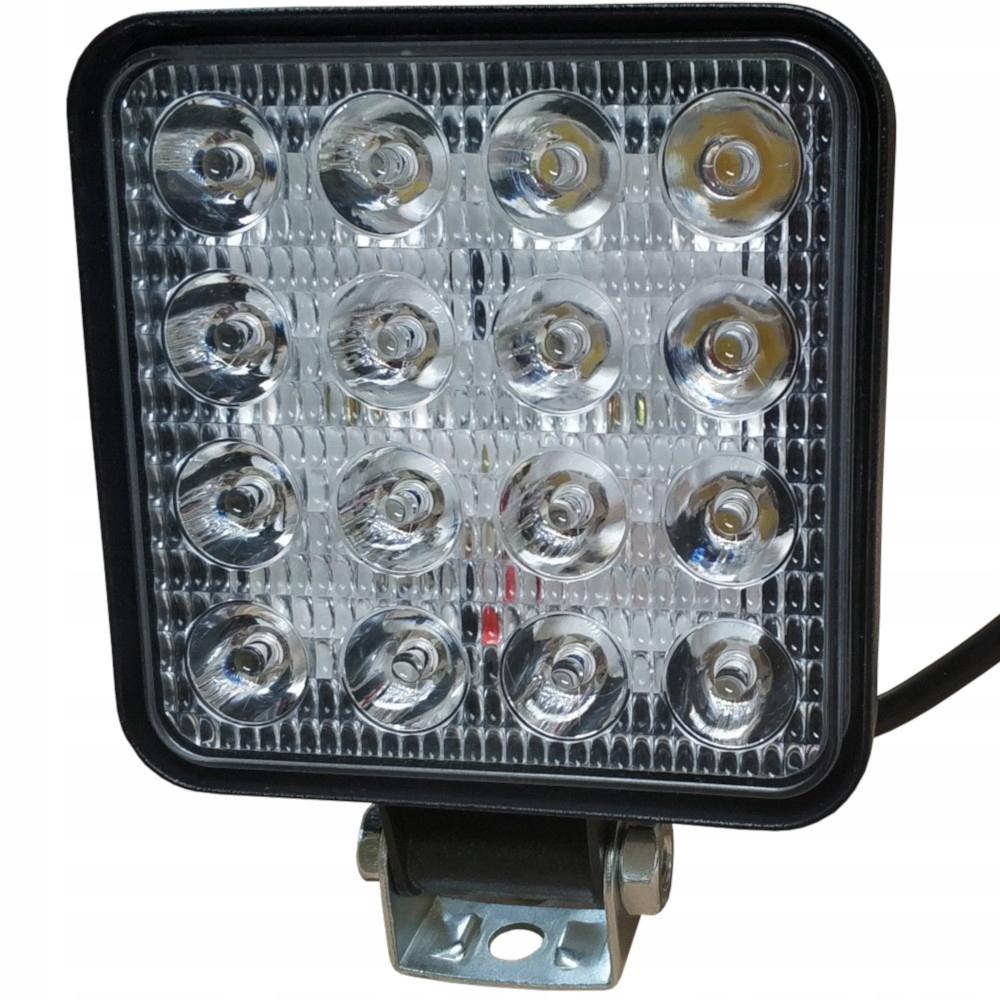 лампа рабочая 16 led галоген 48w 12-30v прожектора