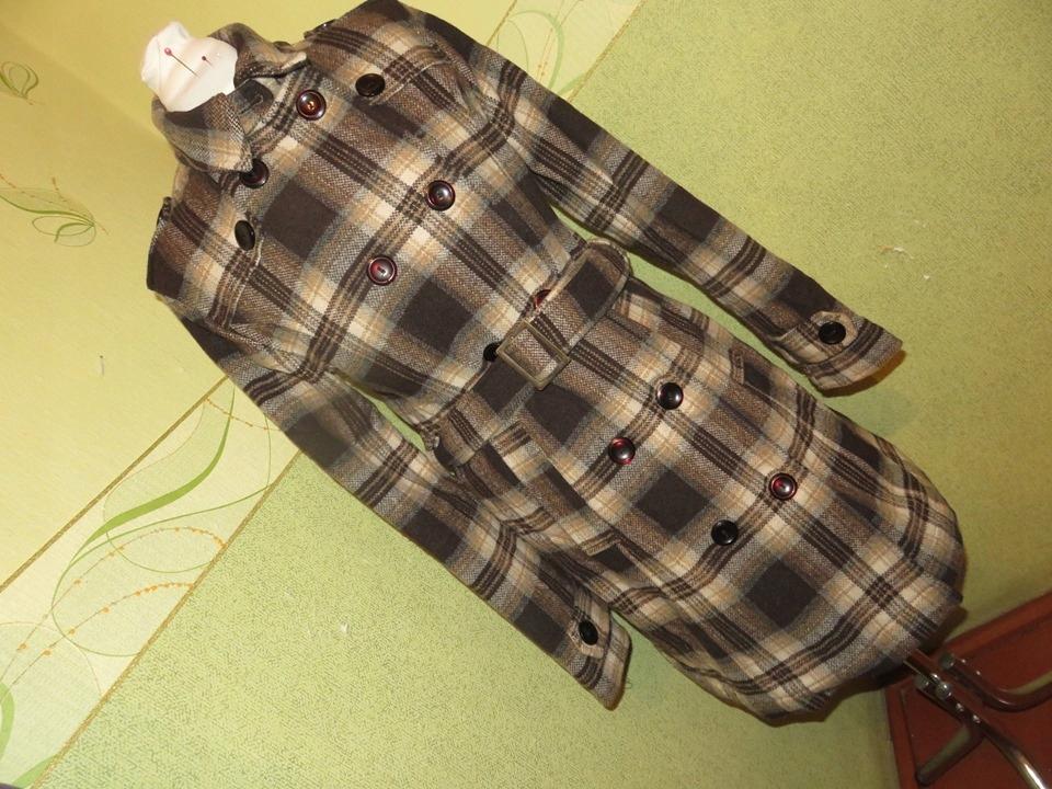 Vintage kockovaný kabát Nové veľkosť L 40