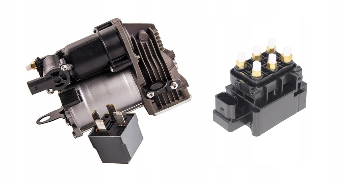 mercedes w221 новый компрессор airmatic +blok планка