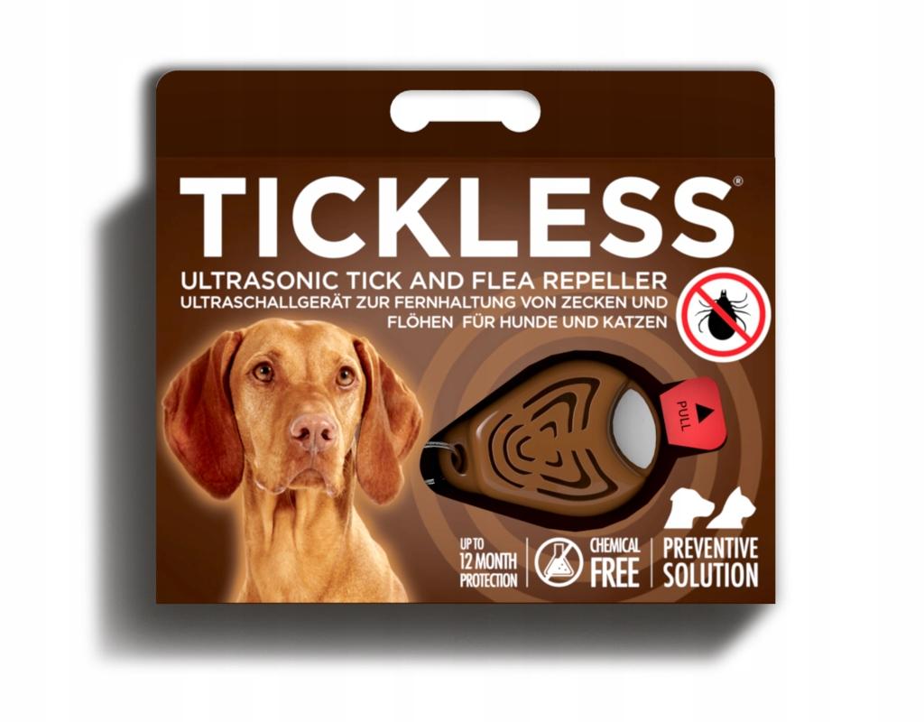 Roztoč repeller pre zvieratá Tickless hnedá