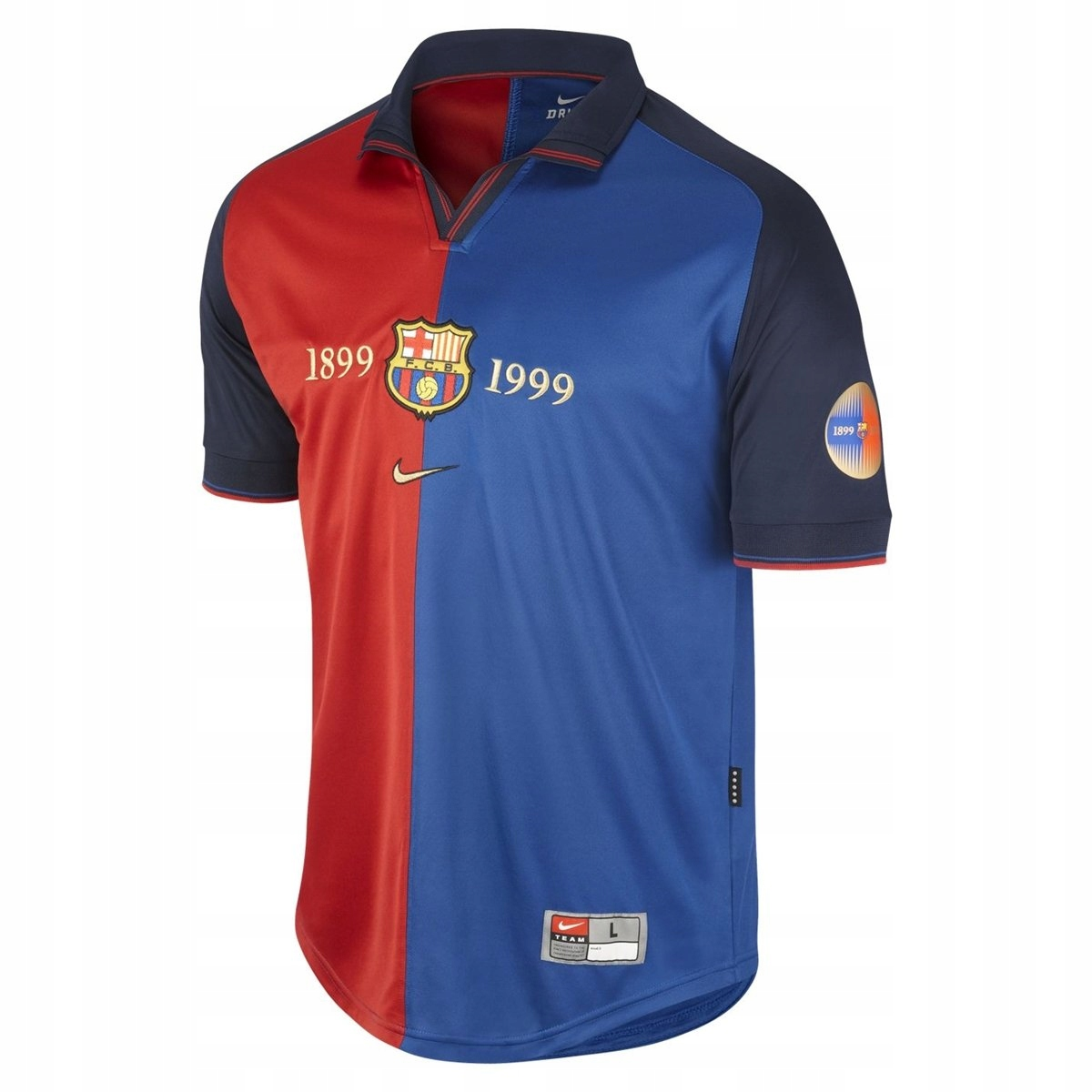 T-tričko FC BARCELONA 1899/1999 Storočia RETRO rokov.L