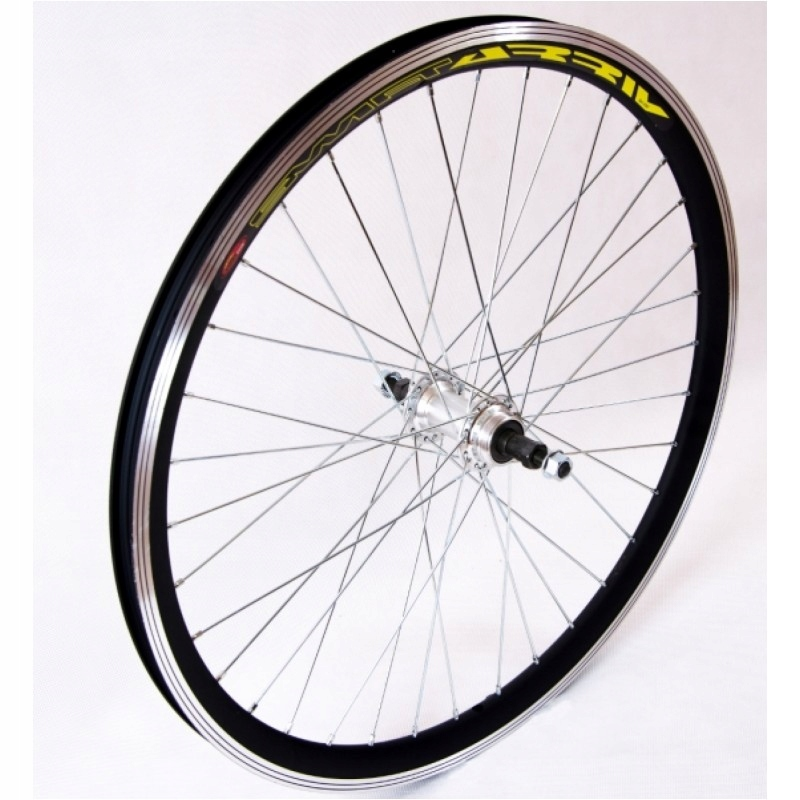 retro koleso cesta vintage 28 čierna vzadu