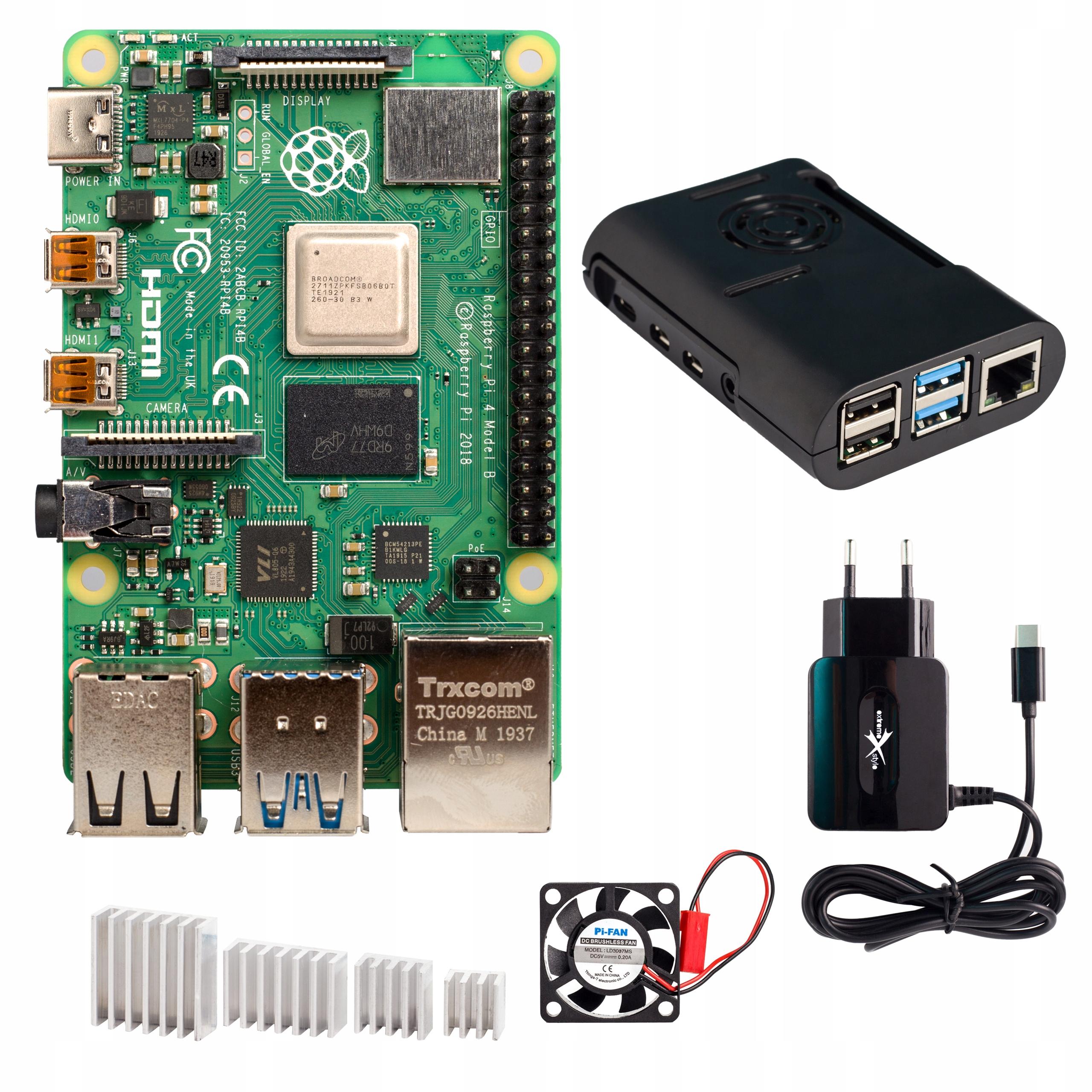 Zestaw Raspberry Pi 4b 8gb Obudowa Wentylator Etc Sklep Komputerowy Allegro Pl
