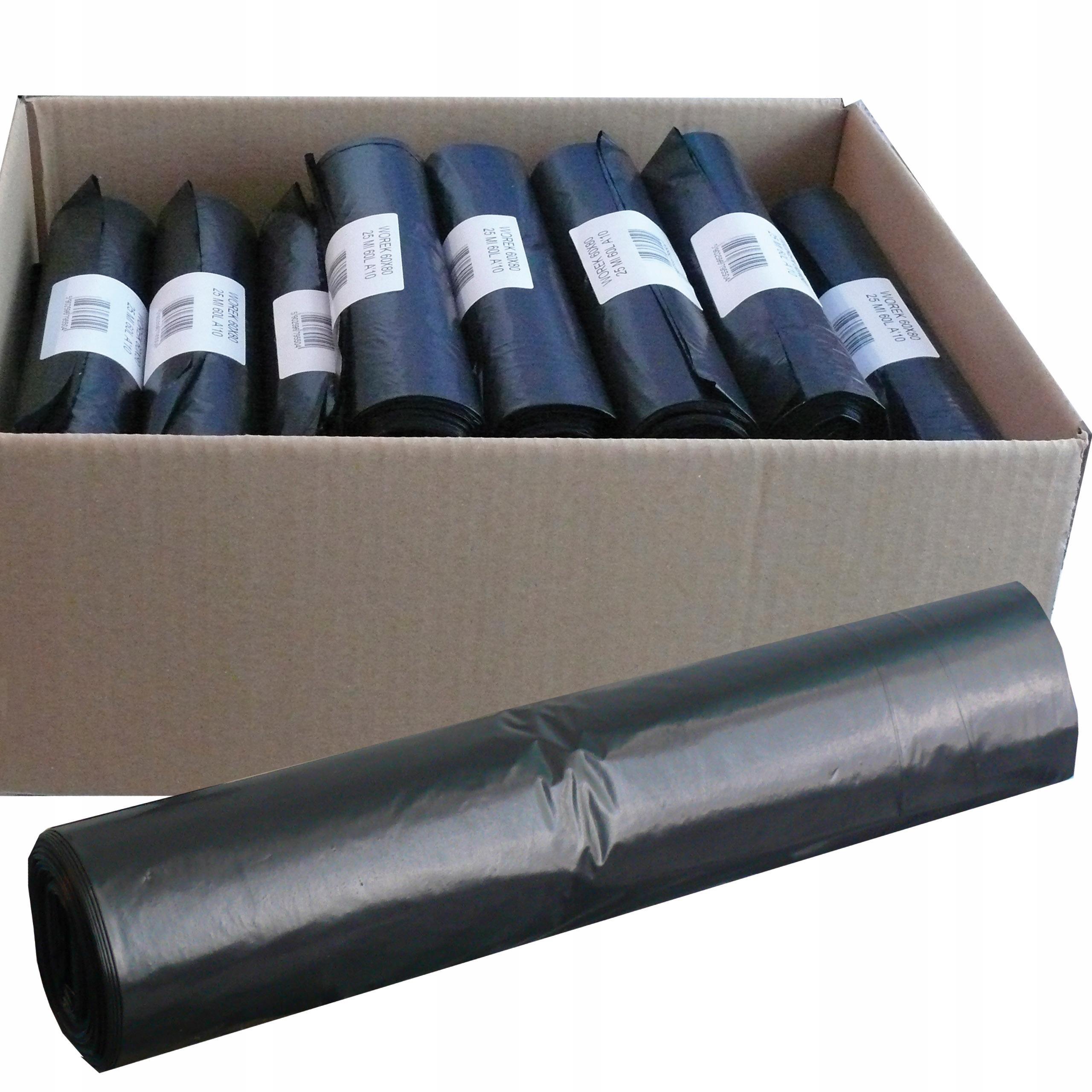 мешки для мусора 60Л 60x80 см, А'10 20 рулонов