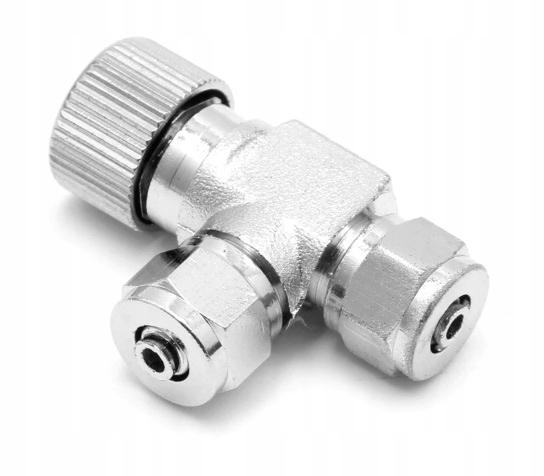 Ultra precyzyjny metalowy zaworek CO2 6mm 2 wyj e-