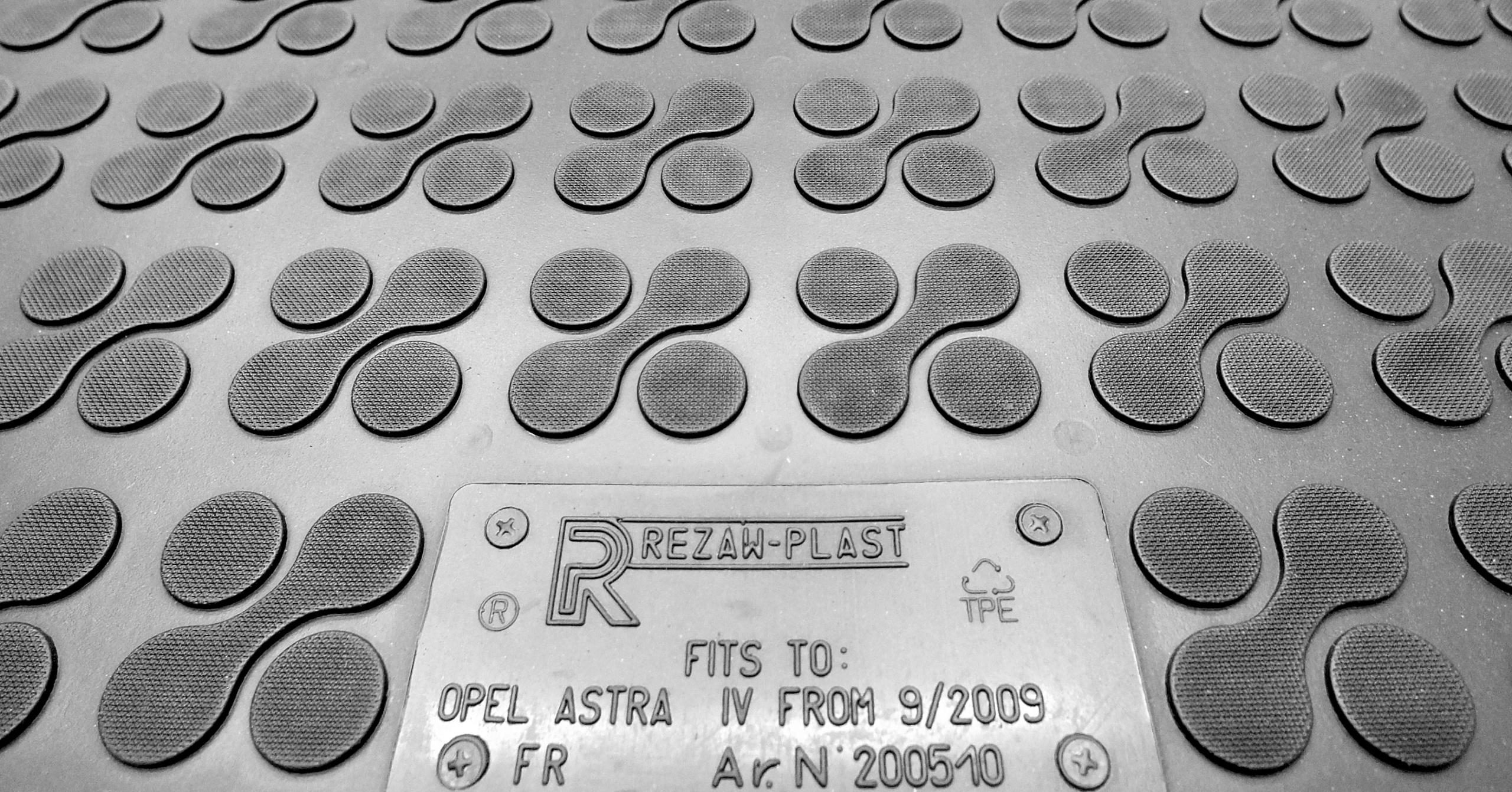 Opel Astra IV J 09/2009-2015 резиновые коврики громкие слова