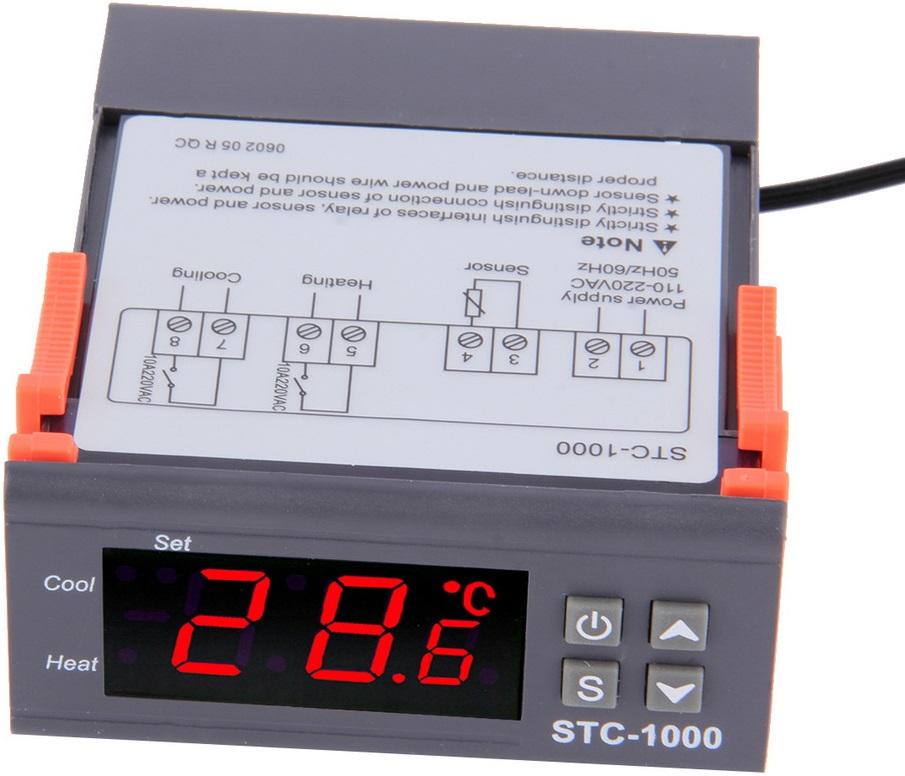 REGULATOR TEMPERATURY STEROWNIK SONDA STC1000 230V