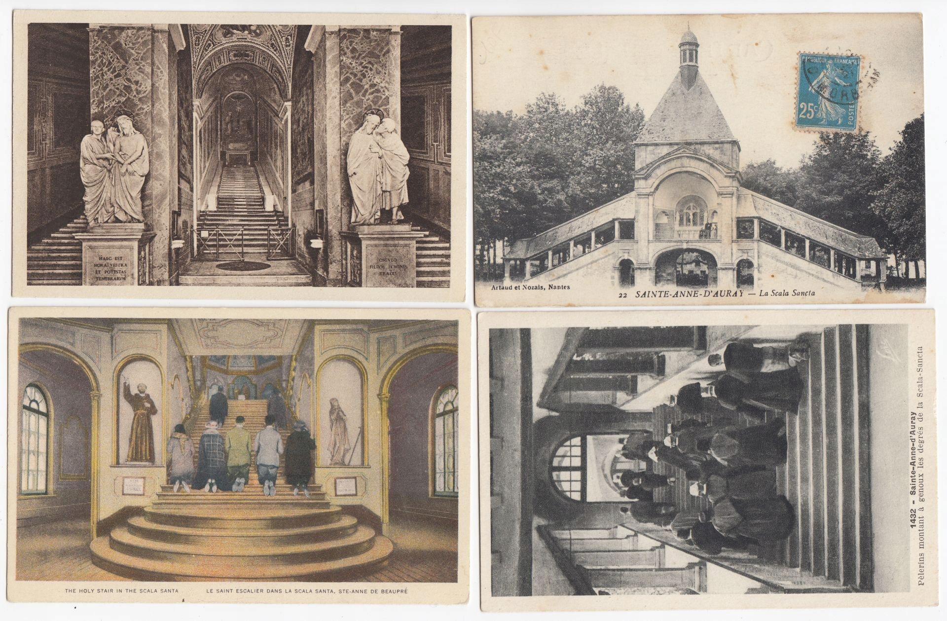 Старые открытки СВЯТАЯ ЛЕСТНИЦА (4 шт) 4S05