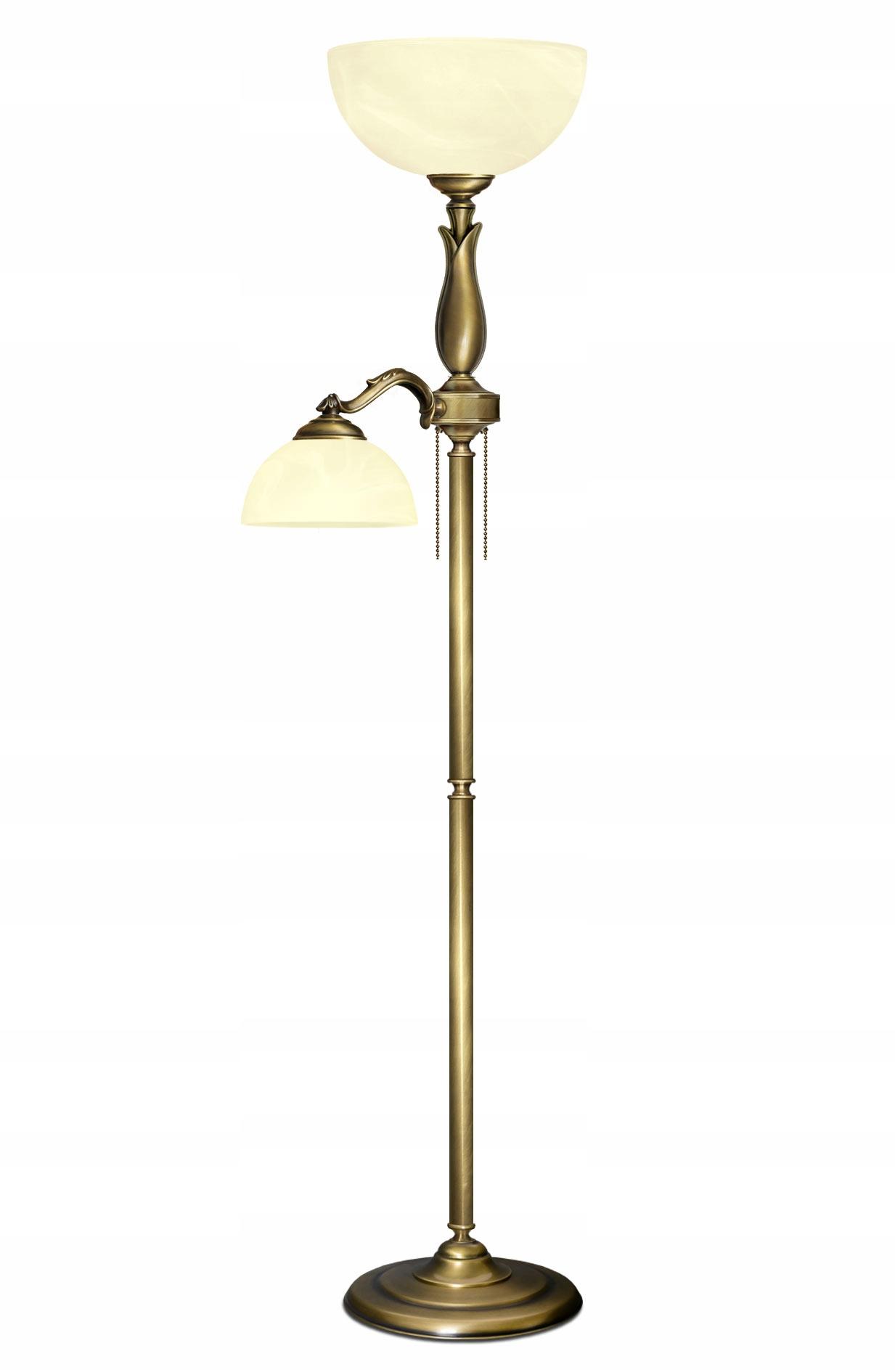 Podlahová lampa MOSADZ čítanie SeriaM