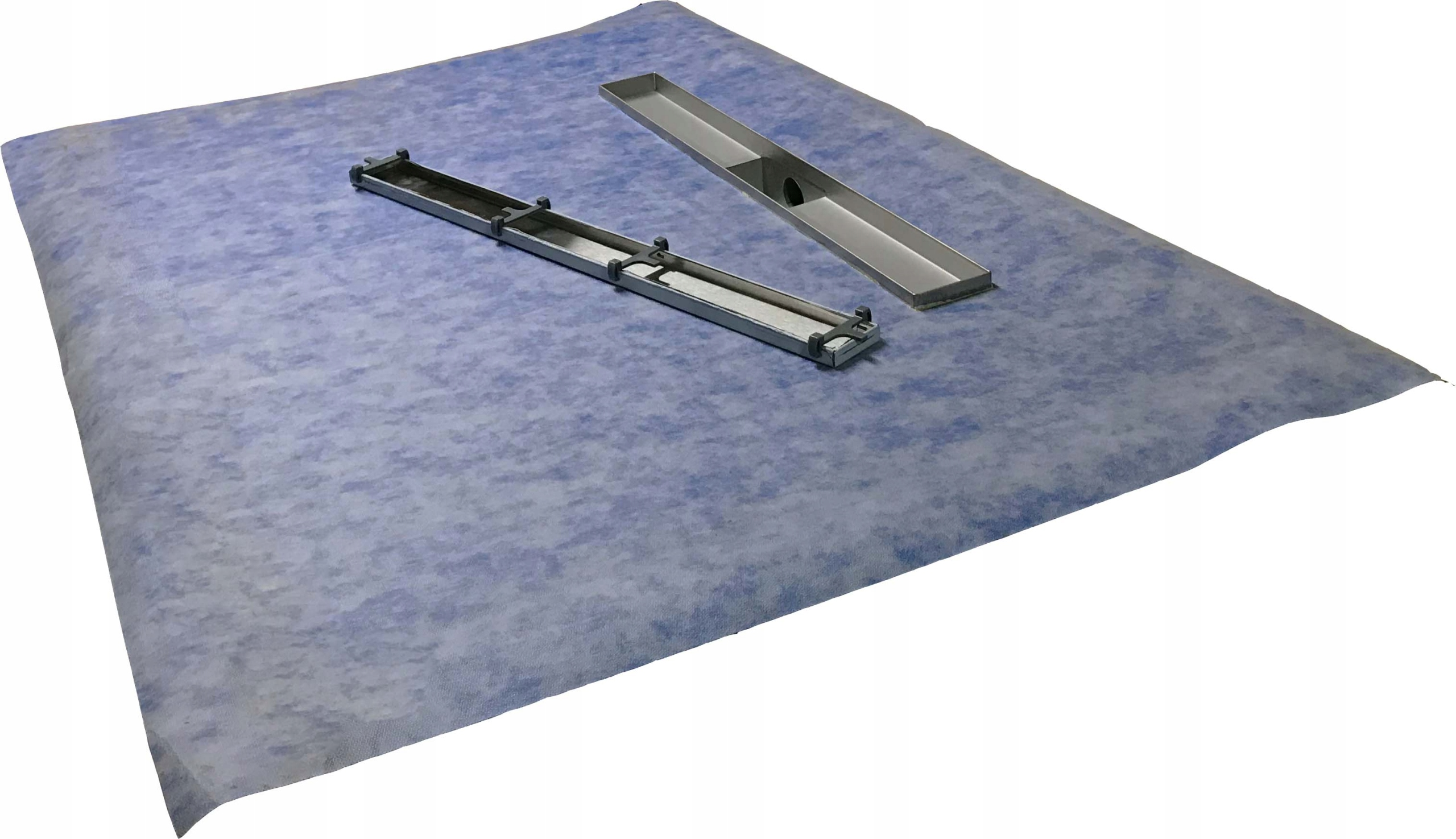 Sprchová vanička pod dlaždice 110x110 lineárny odtok 50 cm