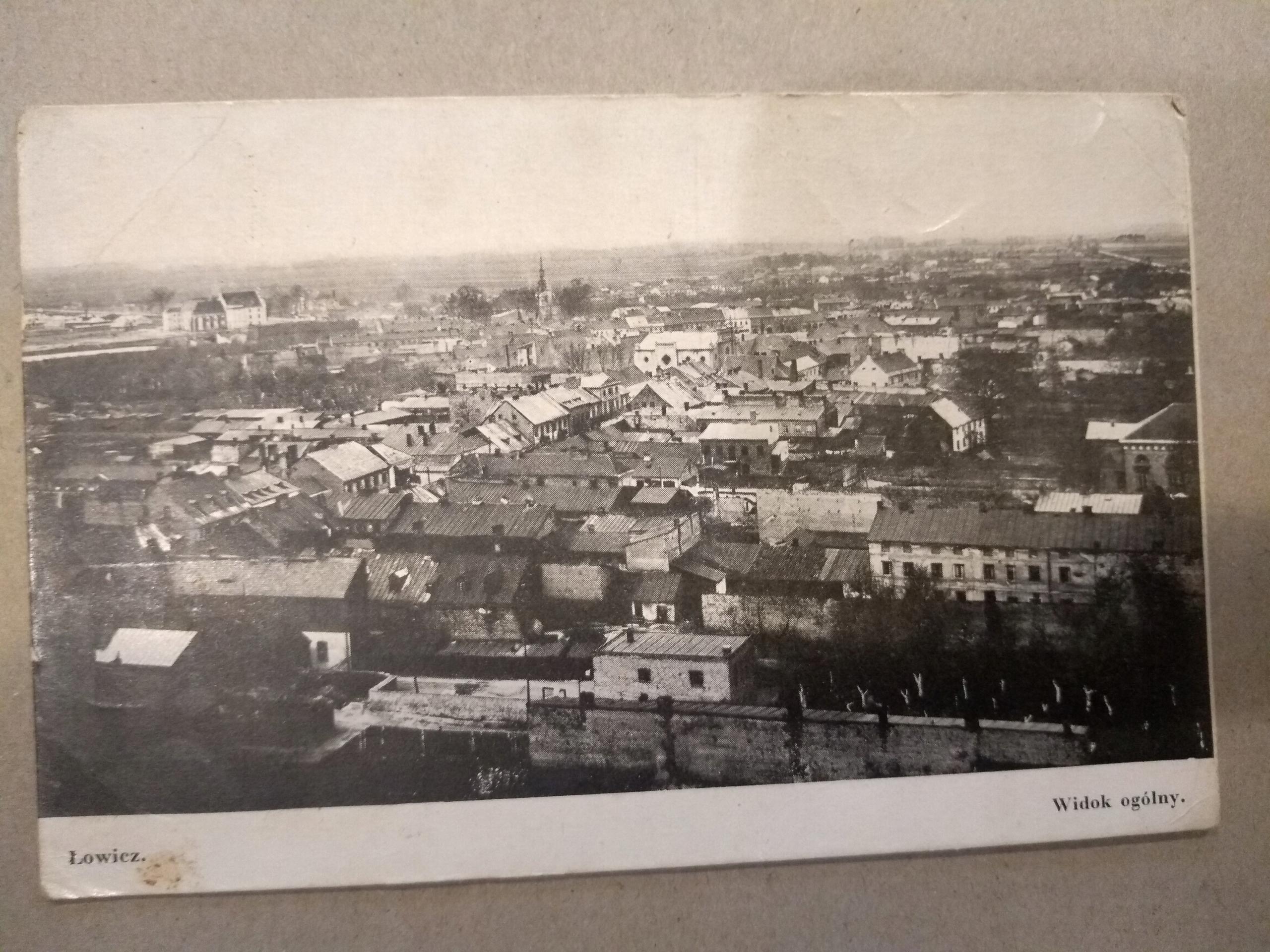 Łowicz pohľad na všeobecnú pohľadnicu