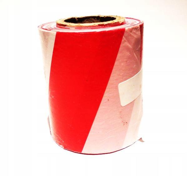 Лента ОГРАДИТЕЛЬНАЯ бело-красная шир. 75мм 100м