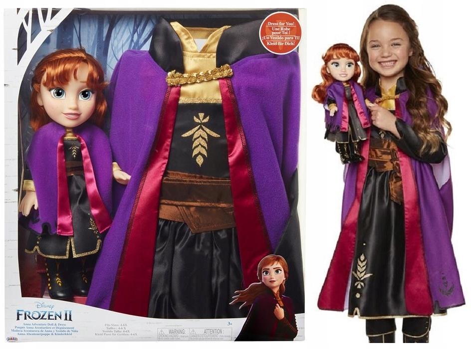 Kostým pre bábiky 2v1 Mrazené 2 Kostým Anna