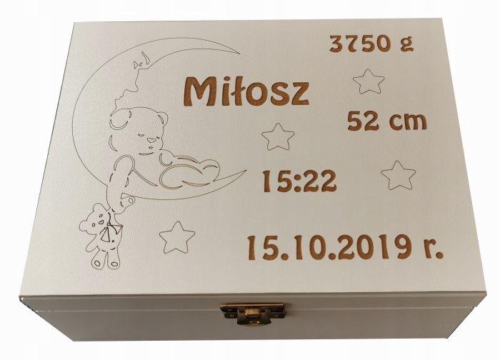 Коробка воспоминаний с выгравированным свидетельством о рождении