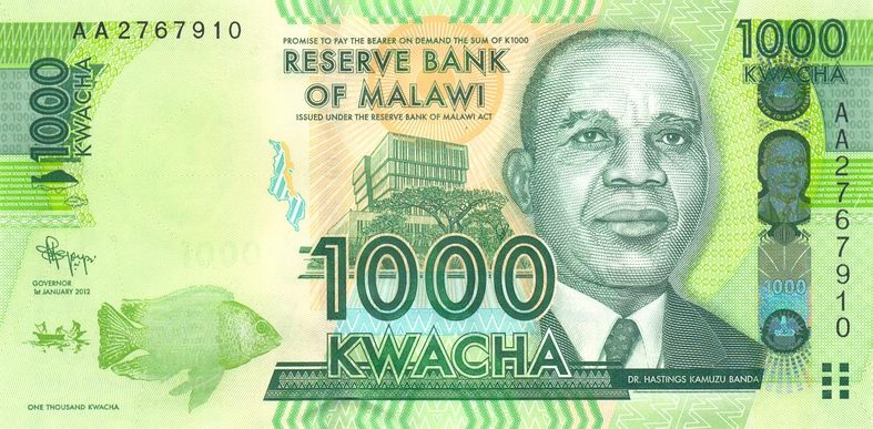 MALAWI 1000 Kwacha 2012 P-62a Serie AA UNC