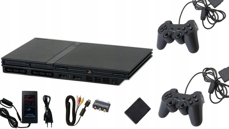 Sony Playstation 2 Slim + 2 Pads + Card + Hry