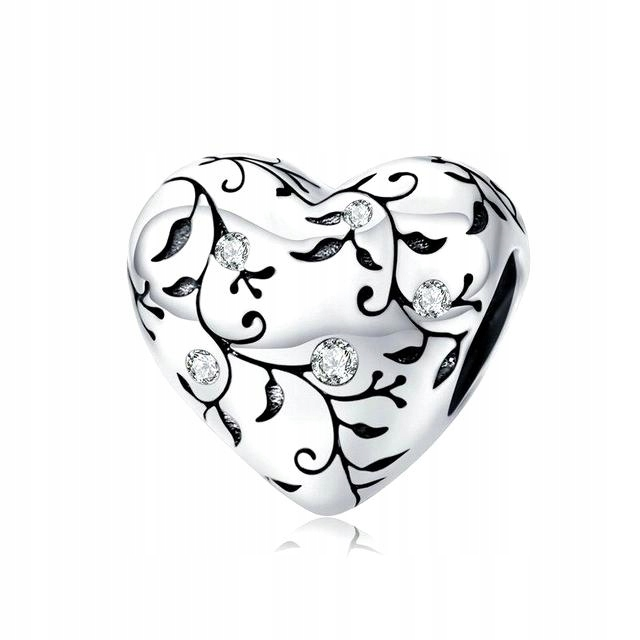 CHARMS pre Pandora RETRO HEART Love Creeper S925