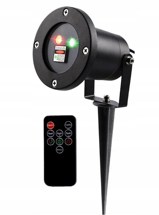Hliníkový externý laserový projektor + diaľkové ovládanie