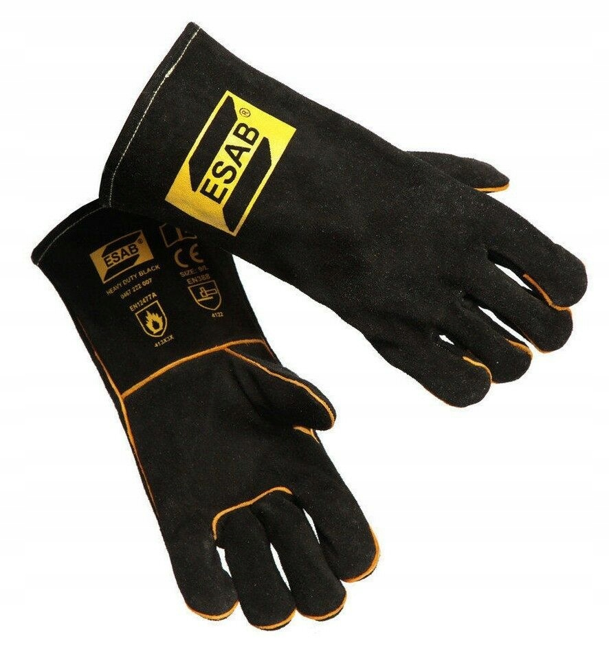 перчатки сварочные Esab Heavy Duty Black MIG ММА