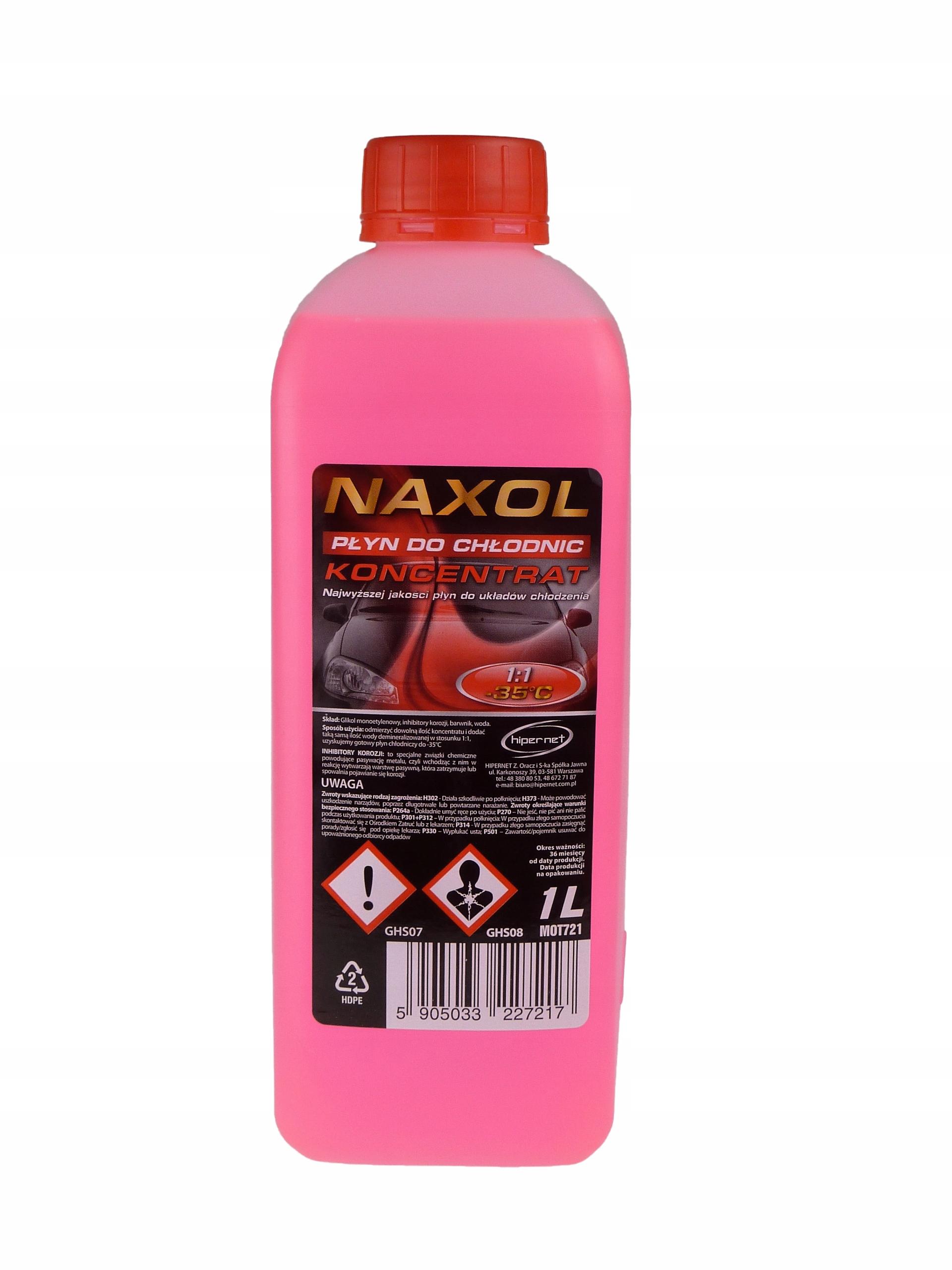 Naxol Жидкость для радиаторов Coolant 1л, концентрат 1:1