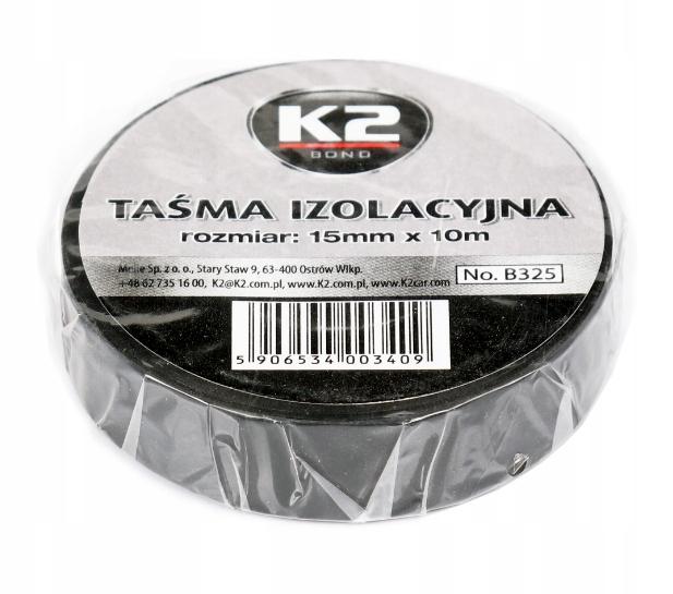 K2 ИЗОЛЯЦИЯ TAPE ИЗОЛЯЦИЯ BLACK 15mm x 10m