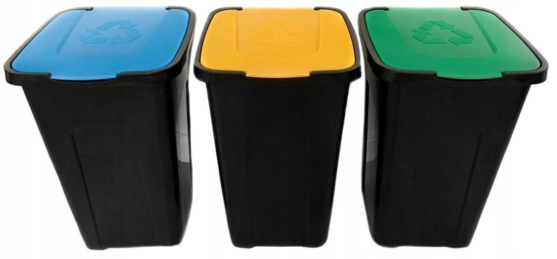 Комплект 3 x корзина для сегрегации отходов SORT 3x50L