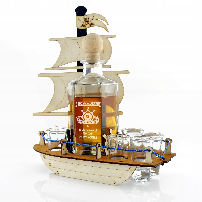 Графин корабль комплект гравер подарок день рождения