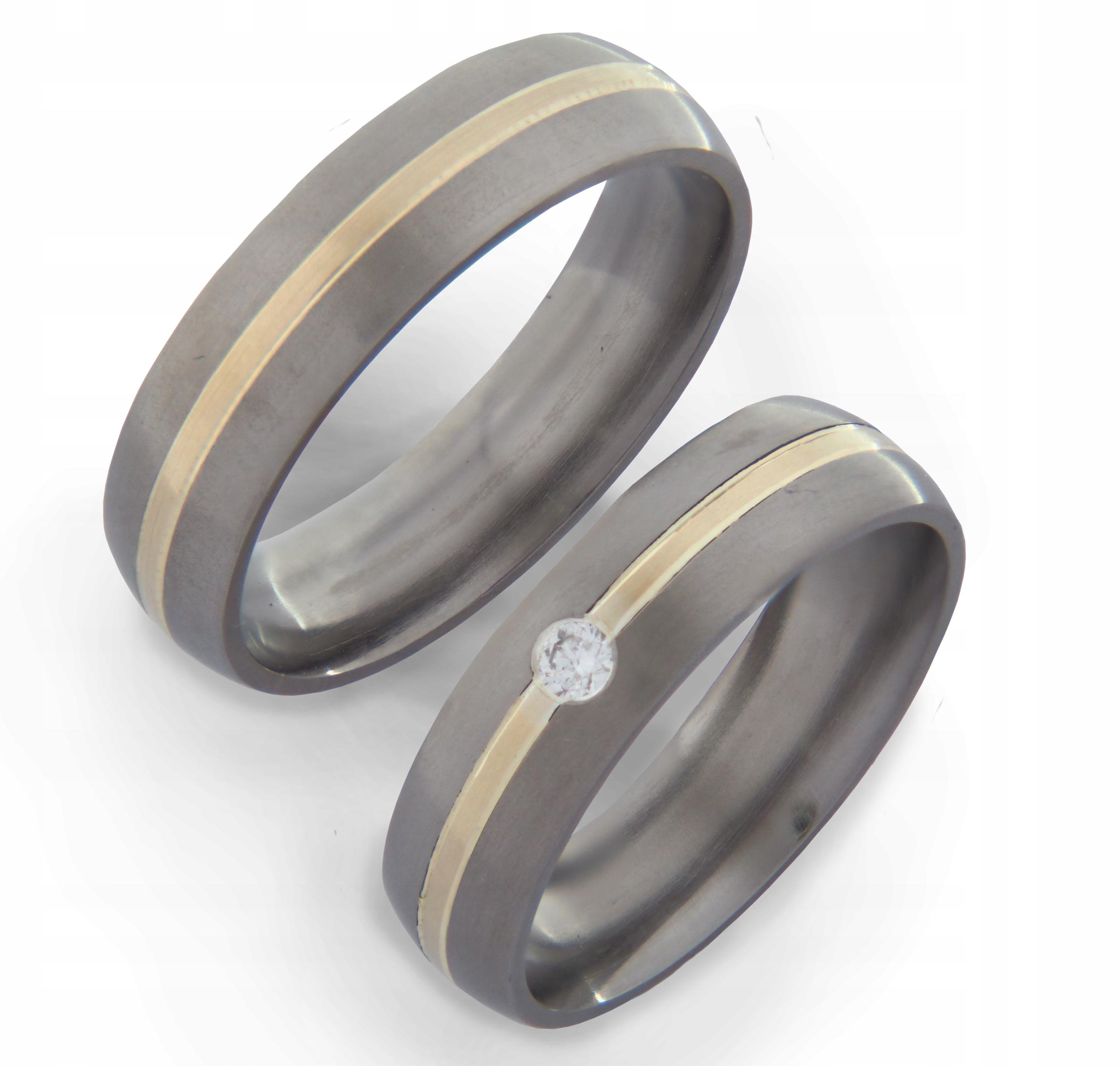 обручальные кольца из титана купить в москве