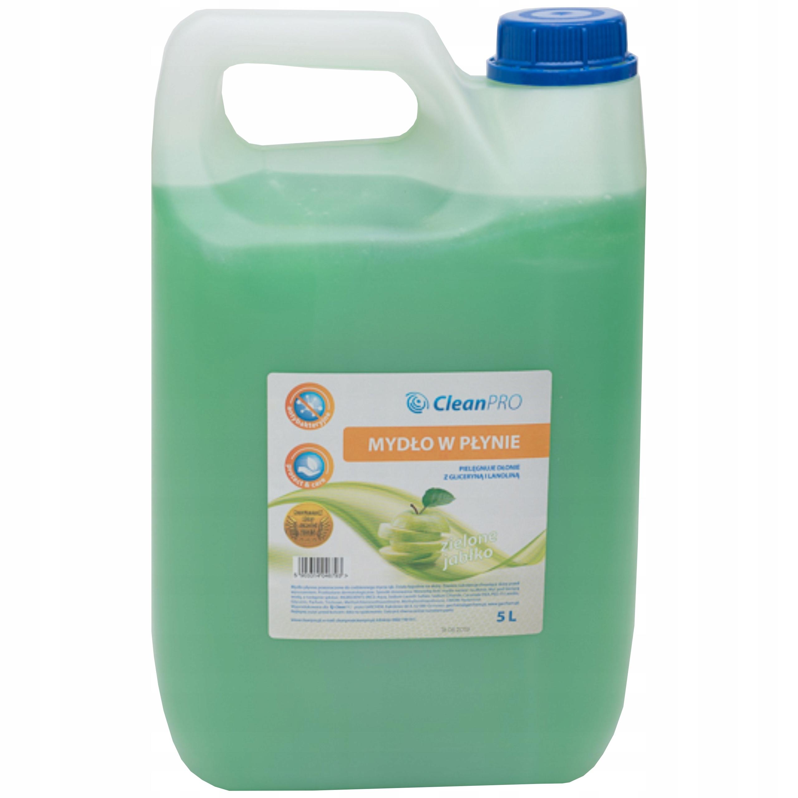 Жидкое мыло для мытья рук CleanPro яблоко 5л