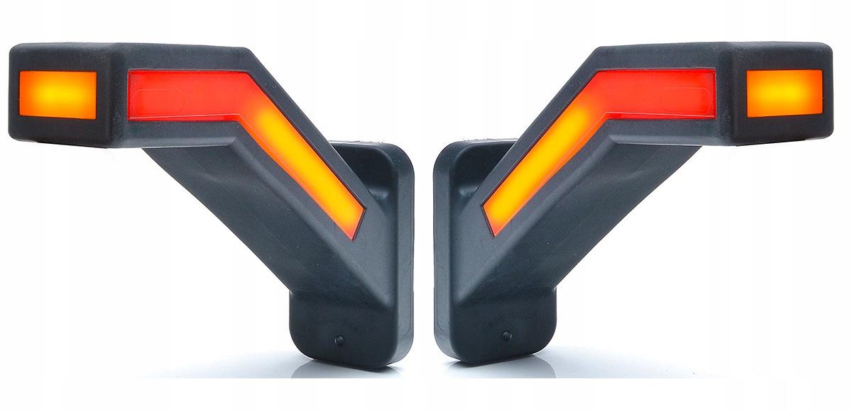лампа габаритный obrysówka рогова фонарь указателя поворота 2x
