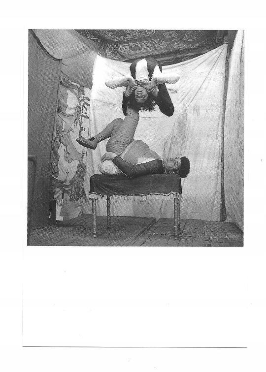 Pocztówka - Egipscy jarmarczni akrobaci / cyrk ...