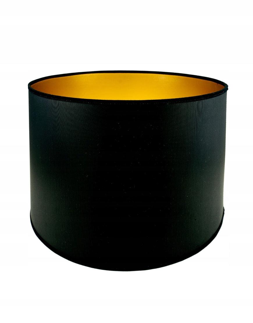 Abażur Premium Owal PCV Czarny/Złoty 11x11x15 cm