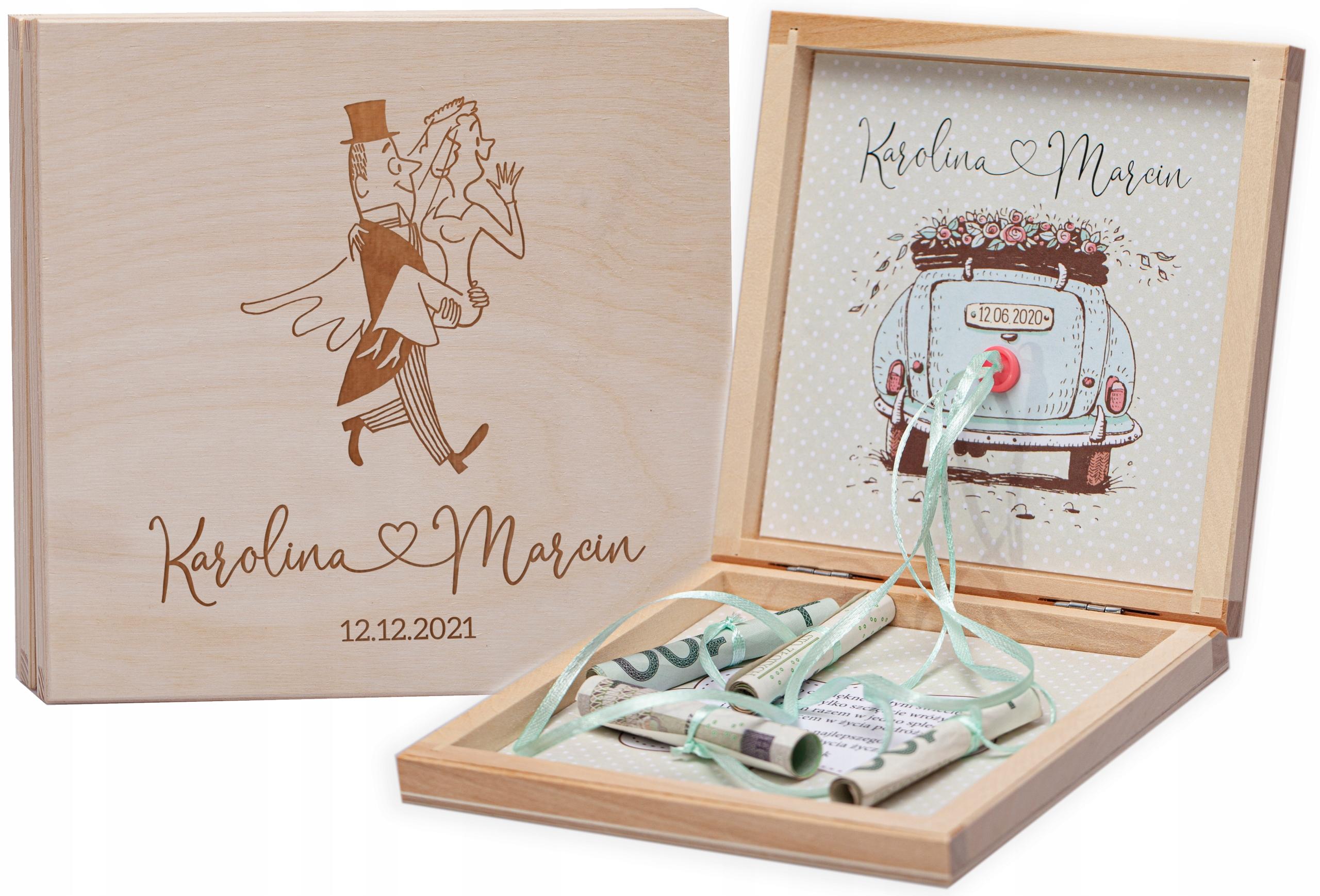 Pudełko na pieniądze pamiątka na ślub prezent G56