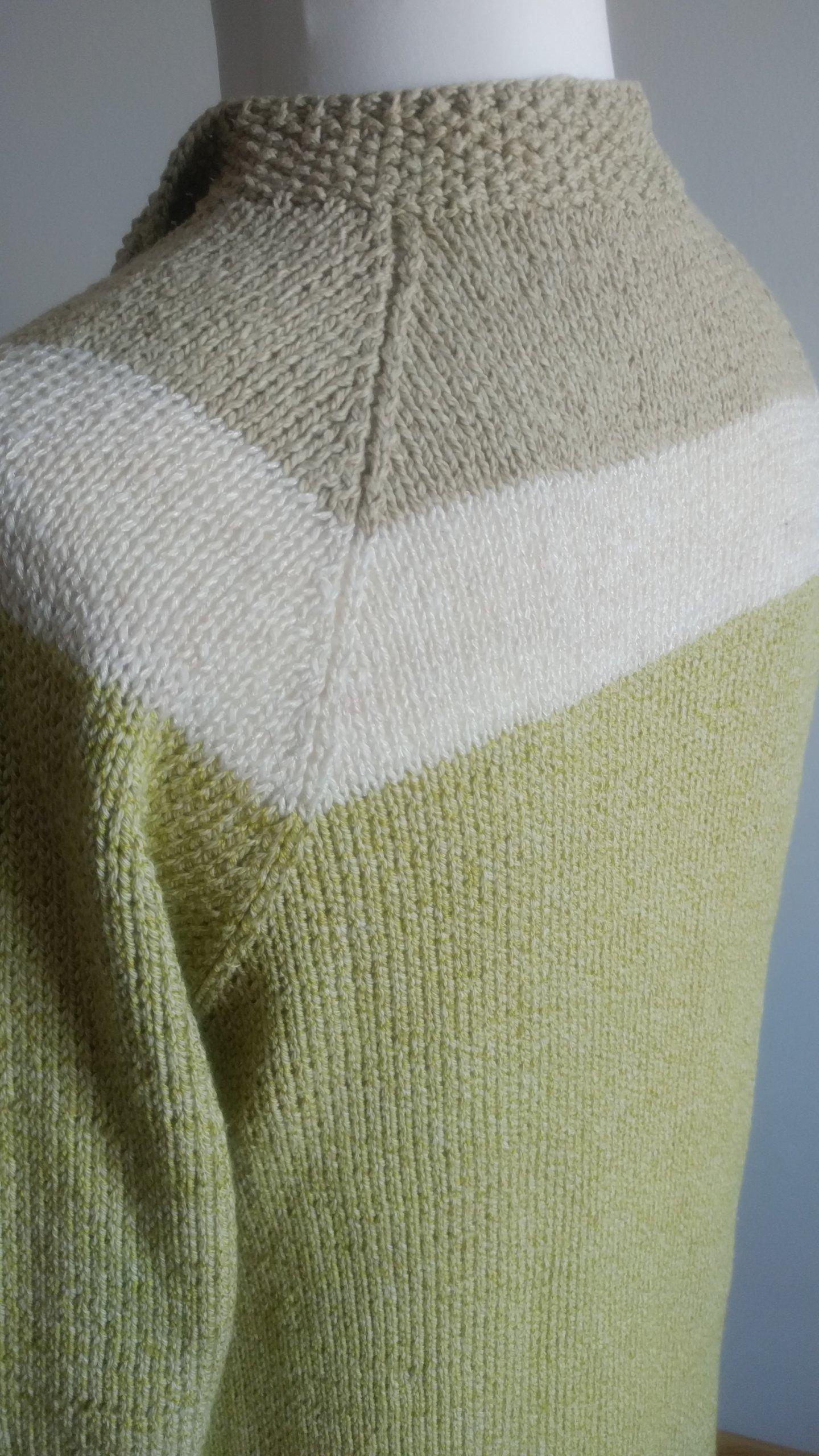 Sweter ręcznie robiony 3840 bawełna len