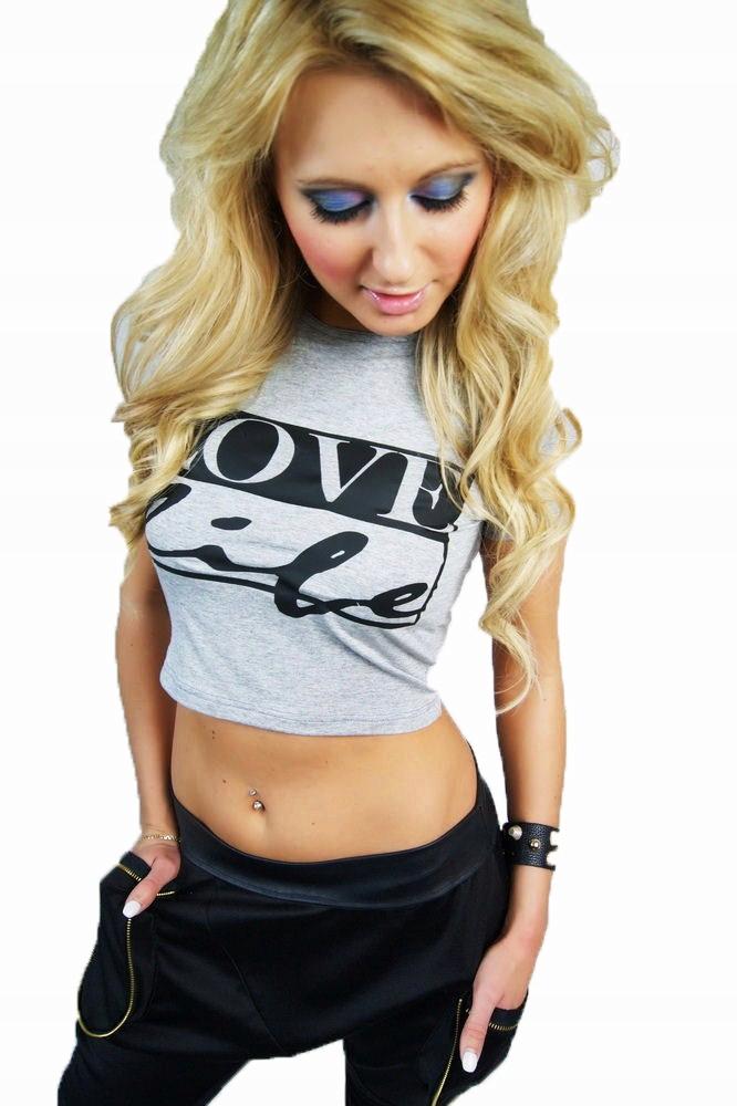 LipMar.... krótka bluzka love life print M 38