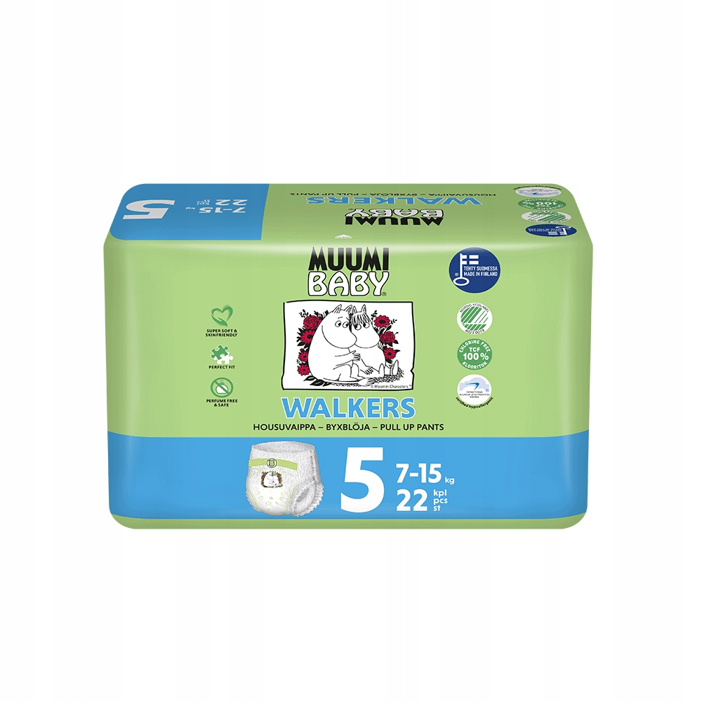 MUUMI Pieluchomajtki 5+ - EKO MAXI (7-15kg) 22szt.