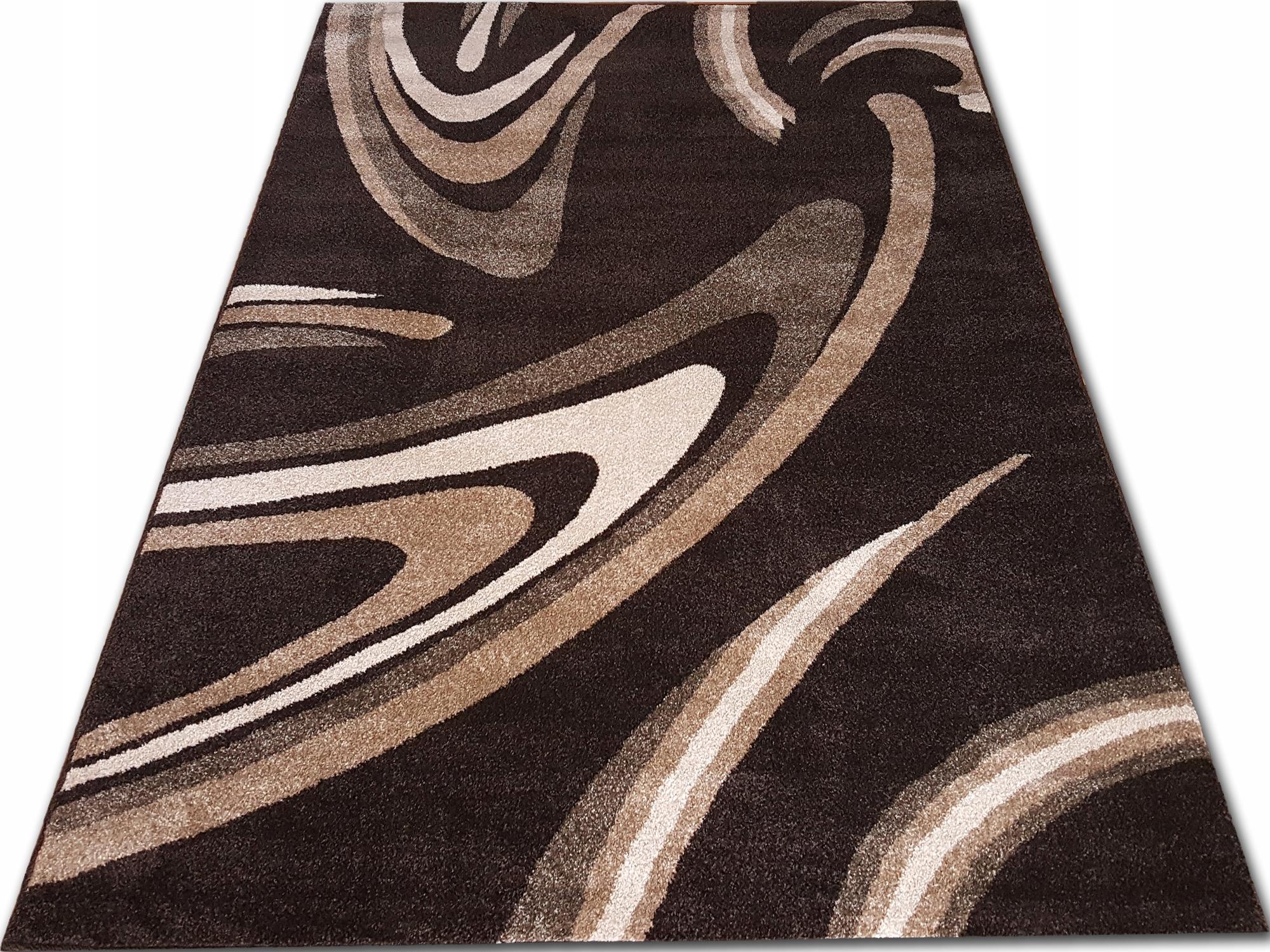 Dywany nowoczesne 160x220 gruby gęsty dywan brąz Zdjęcie